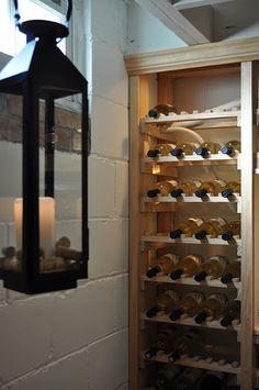 DIY wine cellar. This looks nice. I want to do something like this in our basement.