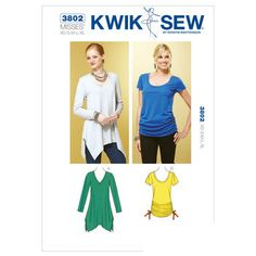 Mccall Pattern K3802 Xs-S-M-L-X-Kwik Sew Pattern
