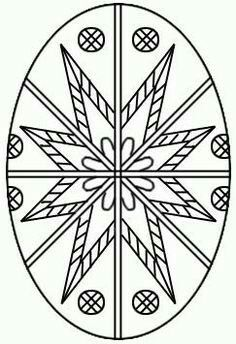 Kalena - Arte do sul trazida da Europa: desenhos para pêssankas Easter Coloring Pages, Colouring Pages, Coloring Books, Egg Crafts, Easter Crafts, Faith Crafts, Easter Egg Pattern, Easter Egg Designs, Ukrainian Easter Eggs