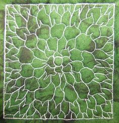 The Free Motion Quilting Project: Day 193 - Giant Dahlia