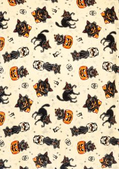 Give your look a cool vintage Halloween vibe when you wear this Sourpuss Bad Girl Black Cats Scarf. This versatile scarf can be worn around the neck or as a head scarf. It features a Halloween print of black cats, pumpkins and the number Vintage Halloween Images, Retro Halloween, Halloween Cat, Holidays Halloween, Halloween Queen, Halloween Birthday, Halloween Halloween, Halloween Backgrounds, Cool Backgrounds