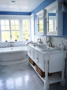 Bathroom Herringbone Carrara Marble Floor Tile Design, Pictures, Remodel, Decor and Ideas - page 7