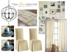 The Yellow Cape Cod: Updated Traditional Two Room Design~The Dining Room Design Plan. Industrial Farmhouse Decor, Farmhouse Décor, Home Projects, Design Projects, New England Decor, Traditional Bedroom Decor, Dining Room Design, Cape Cod, House Design