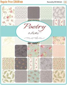 SALE Poetry Layer Cake  3 Sisters for Moda  10 Inch by Jambearies