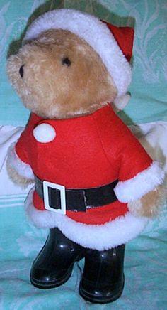 Vintage 1983 Paddington Bear in Santa Claus Suit  by heresthething, $22.00