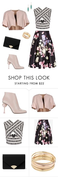 """Light pink luxe"" by laura-paasivirta on Polyvore featuring Pinko, Balmain, Ted Baker, MICHAEL Michael Kors and Mudd"