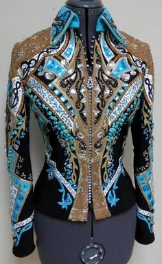 Dardar8 Designs... I wish!! Caramel, Turquoise, and black show jacket (could wear with black or caramel chaps / show pants)