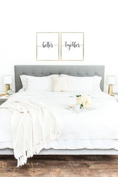 Above crib art / set of 2 prints / minimalist poster / Above bed art / above crib decor / nursery print / bedroom wall art / Sweet Dreams print - Home Sweet Home - Bedroom Decor Home Decor Bedroom, Spa Bedroom, Bedroom Furniture, Bedroom Art Above Bed, Above Headboard Decor, Bedroom Romantic, Modern Bedroom, Grey Headboard, Bedroom Pictures Above Bed