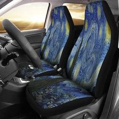 Owl Wicca Animal Wiccan Themed Car Vehicle Front Chair Seat Covers Protector Auto SUV Rv Driver Uv Trucks Women Men Girl Boy Set of 2 Accessories Decorations Decor