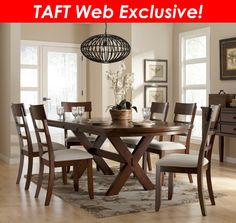 Bedford Five Piece Extension Dining Set with Upholstered Chairs