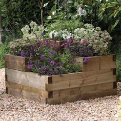 The Forest X X Caledonian Tiered Raised Bed Provides An Eye Catching  Display To Suit Plants, Flowers Or Herbs. Manufactured From FSC Timber, ...