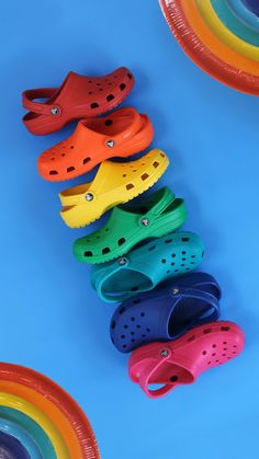 Beaming with pride. Crocs Fashion, Fashion Shoes, Cool Crocs, Pride Shoes, Selfies, Kids Outfits, Summer Outfits, Crocs Classic, Yellow