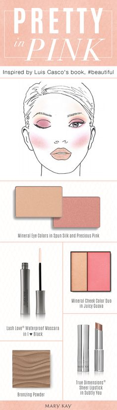 A makeup palette inspired by two of our favorites: Mary Kay Global Makeup Artist Luis Casco and the color pink! Embrace rosy cheeks, eyes, and lips for an ultra-girly beauty look!
