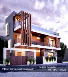 modern exterior design Informations About V-Draw architectural visualization Pin You can easily use Modern Bungalow Exterior, Modern Exterior House Designs, Modern House Facades, Unique House Design, House Front Design, Cool House Designs, Exterior Design, House Architecture Styles, Architecture Design