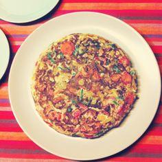 Vegetables omelette yummiiii