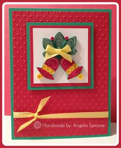All That Scrap For Me - Quilled Christmas Bells Card
