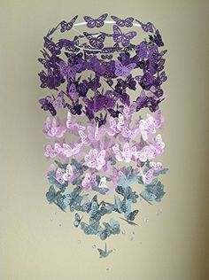Purple and Gray Butterfly Nursery Crib Mobile, Nursery Decor, Purple Baby Mobile, Gray Baby Mobile -- Learn more by visiting the image link. Baby Blue Nursery, Nursery Crib, Girl Nursery, Baby Room Decor, Nursery Decor, Themed Nursery, Nursery Ideas, Butterfly Nursery, Butterfly Mobile