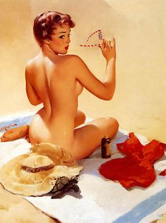 gil elvgren vintage pin up girl art sexy back by GOOD2PRINT, $7.99 I want to take these kind of pictures so bad!