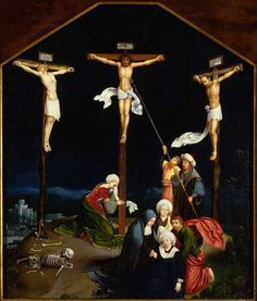 Joachim de Patinir (Flemish, ca. 1480-before 1524), Crucifixion , 1500, oil on panel  The Portland Art Museum