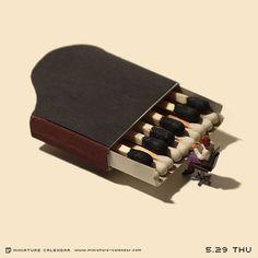 Miniature Calendar: El Increíble Mundo en Miniatura por Tanaka Tatsuya