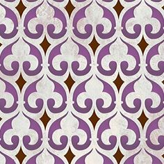 Moorish Fleur de Lis Moroccan Stencil - I like this graphic take on a classic design.  I'd love to make a canvas art piece with this pattern - maybe for our guest bedroom.