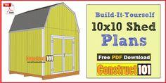 die besten 25 10x10 shed plans ideen auf pinterest kleine schuppen einen schuppen bauen und. Black Bedroom Furniture Sets. Home Design Ideas