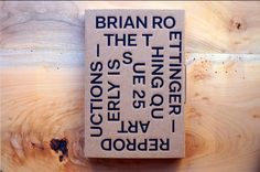 Brian Roettinger, THE THING Quarterly, Issue 25
