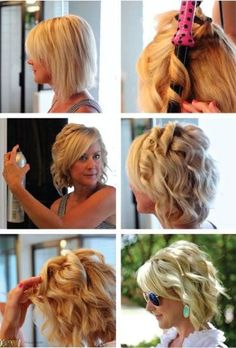 Curl Short Hair, Curling Iron Tutorials, How to Hacks