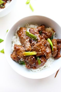 Whole 30 compliant Paleo Mongolian Beef | made with only 10 ingredients | gluten, sugar, & soy free | Ready in less than 30 minutes!
