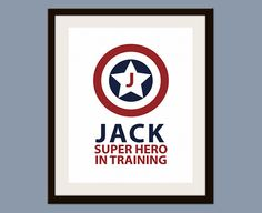 Personalized Superhero in Training Print 11 x 14 by smittenimage, $19.00