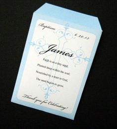 Items similar to Baptism or First Communion Favor Seed Packets on Etsy Christening Party Favors, Christening Invitations Boy, Baptism Favors, Baptism Ideas, First Holy Communion Cake, First Communion Favors, Baby Boy Baptism, Baby Christening, Seed Packets