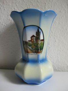 Andenken Porzellan Vase Ansicht Königsberg Kaliningrad Ostpreußen Preußen 1900