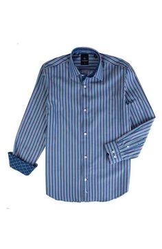 TailorByrd Lake Murray Stripe Dress Shirt (Big Boys)