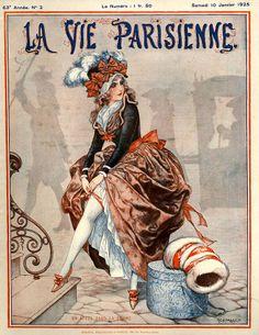 France Art Print featuring the drawing France La Vie Parisienne Magazine by The Advertising Archives Art Deco Illustration, Magazine Illustration, Illustrations, Advertising Archives, Retro Poster, Belle Epoque, Magazine Art, Magazine Covers, Vintage Artwork