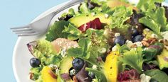 Fruit & avocado salad is crisp, healthy and vitamin-packed. So easy!