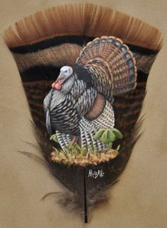Custom Feather Art By Melissa Ball Turkey Drawing, Turkey Painting, Turkey Art, Wild Turkey, Feather Painting, Feather Art, Wildlife Paintings, Wildlife Art, Wildlife Tattoo