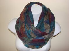 Aztec Infinity Scarf Cowl Teal Green Brown by OtiliaBoutique, $27.95