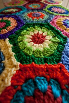 Crochet---this would be so beautiful in neutrals with dark borders.  Think honeycomb.