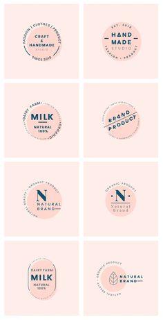Set of logo badge design vectors | free image by rawpixel.com Typography Logo, Logo Branding, Bakery Branding, Bakery Logo Design, Food Logo Design, Graphic Design Branding, Identity Design, Business Logo, Business Design
