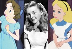 "Alice in Wonderland (1951) & Peter Pan (1953) — Kathryn Beaumont: At just 10 years old with curly blonde hair & blue eyes, Kathryn Beaumont was chosen to be both the voice & model for Alice in Disney's original 1951 animated ""Alice in Wonderland."" Under contract with Disney, Beaumont went on to be the voice for Wendy in ""Peter Pan,"" & today continues voice work reprising her famous roles."