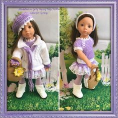 TRULYKNITTING COMPLETE OUTFIT COMPATIBLE WITH GOTZ HANNAH HAPPY KIDZ