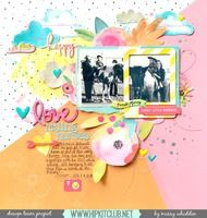 Hip Kit Club DT Project - 2016 May Hip Kits; exclusives designed by Kim Watson; Bella Blvd Illustrated Faith She Blooms; Shimmerz Paints, Simple Stories, Jillibean Soup