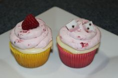 Love these - kneader's lemon and raspberry  truffle cupcakes.