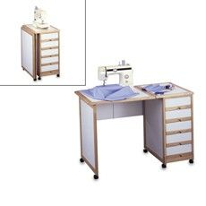Compact sewing desk