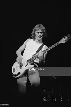 John Wetton, bass player with Uriah Heep performs live on stage at the Orpheum Theatre in Boston, Mass, USA on 6th May 1976.