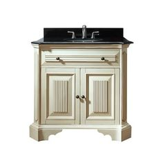 "Avanity Kingswood 36"" Vanity - Distressed White 