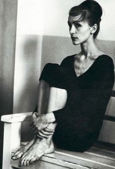 """design-is-fine:  Pina Bausch, Folkwang School, 1960s. Photographer: unknown. """"I loved to dance because I was scared to speak. When I was moving, I could feel."""""""