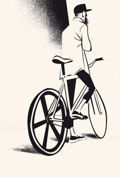 New fixie bike drawing bicycles 32 Ideas Fixi Bike, Bicycle Art, Bicycle Design, Bicycle Tattoo, Road Bike, Bicycle Illustration, Illustration Art, Bici Fixed, Hipster Vintage