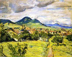 Printemps dans le Palatinat, huile sur toile de Max Slevogt (1868-1932, Germany)