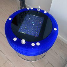 Maquina de videojuegos arcade de diseño moderno - Pacman color Azul Eléctrico